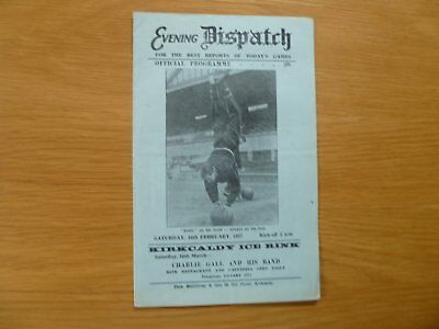 16Th February 1957 Raith Rovers V Dundee United Scottish Cup