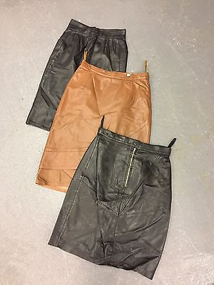 Vintage Wholesale Leather Skirts Short Long X 50