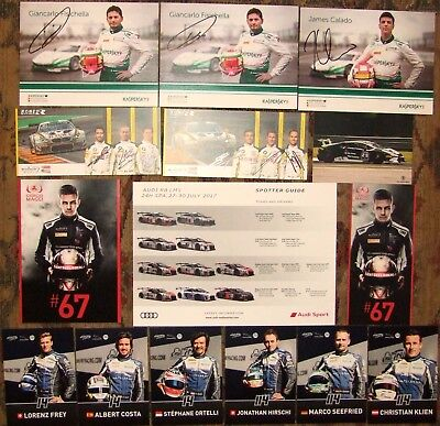 Blancpain 24 Hours of Spa 2017 GT Cards - x 16, including Autographs