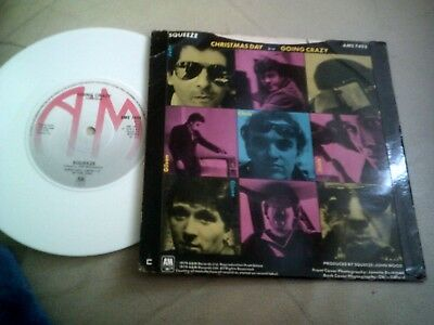 """Squeeze White Vinyl 7"""" Christmas Day / Going Crazy A&m Ams 7495"""