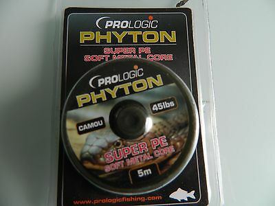 Prologic Phyton. Super Pe Soft Metal Core.camo. 45Lb