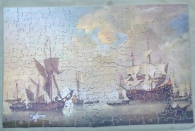 Chad Valley Vintage Wood Jigsaw - The Apple Of His Majesty's Eye