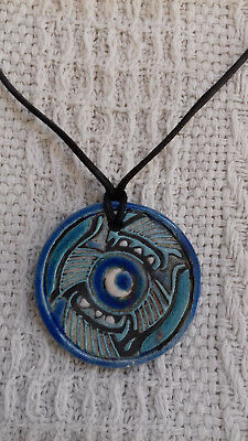 CERAMIC/POTTERY Neck PENDANT Handmade by Lynsey Adams Handcrafted
