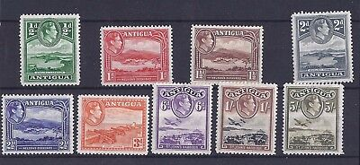 Antigua - KGVI stamps - 1938 set to 1s plus 5s LMM