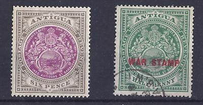 Antigua - 1903 SG 36 6d LMM and SG 52 War Tax Used