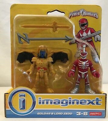 Fisher-Price Imaginext Power Rangers Goldar and Lord Zedd Action Figure set New
