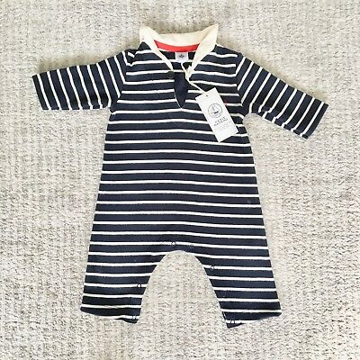 Petit Bateau Nautical Romper/ babygrow. 0-3 months. New with tags. RRP £35.00