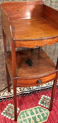 Georgian Mahogany Night Stand With Draw Underneath Lovely