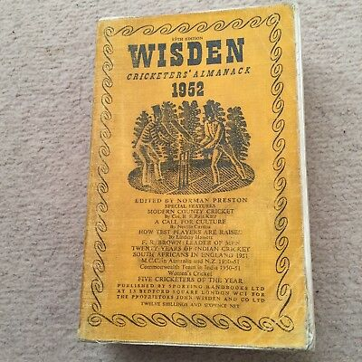Wisden Cricketers' Almanack 1952 linen covered edition