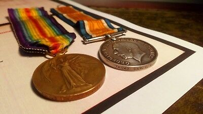 WW1 British War Medal and Victory Medal Pair - R.G.A.