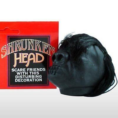 Shrunken Head With Hair Hot Rat Rod Hanging Head Mirror