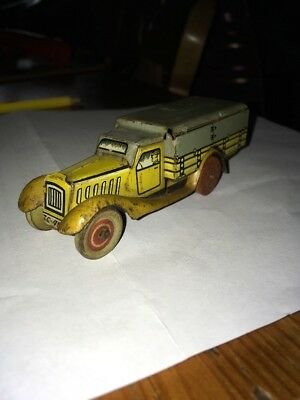 A Superb German Clockwork Tinplate Lorry