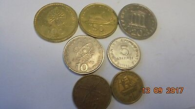 Greek  coins as listed and photo