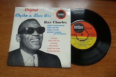 Various - Original Rhythm & Blues Hits 1963 UK EP EMBER RAY CHARLES JESSE BELVIN