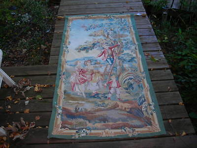 Fall Clearance! Lovely Hand Woven Vintage Wool Tapestry Or Wall Hanging 3X6 Feet