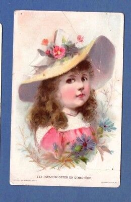 1894 Vintage Victorian Stock Trade Card ~ Woolson Spice Lion Coffee ~ Toledo OH