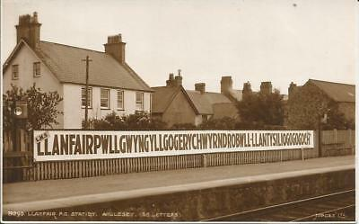 Llanfair Station, Anglesey.  1942