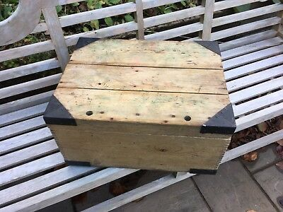 Small Vintage Pine Trunk, Blanket Chest, Tuck Box