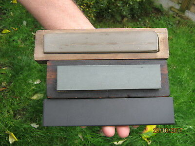 3 Small Natural Sharpening Stones :- Charnley Forest, Llyn Idwal & Welsh Slate