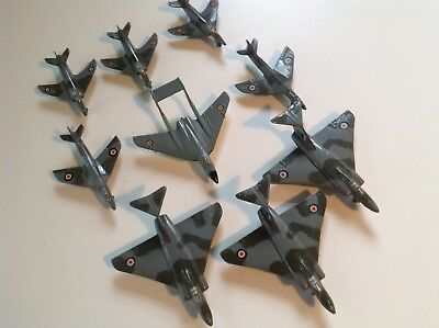 Vintage Set Of 9 Dinky Toys Fighter Jets. In Excellent Condition.