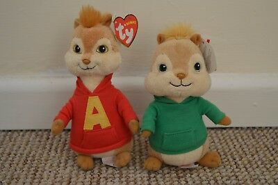 TY Alvin and the Chipmunks: Alvin and Theodore BRAND NEW!