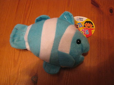 Cute Little Cuddly Blue and White Fish  Brand New