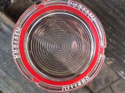 "Rare Vintage Riviera Casino Las Vegas 3.5"" Round Red Band Glass Ashtray"