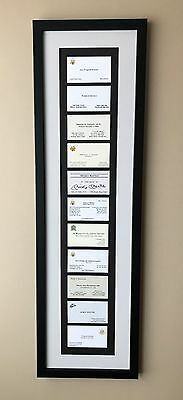 Vintage-Famous Collection Framed Business Cards Gift..Unique- Mickey Mantle