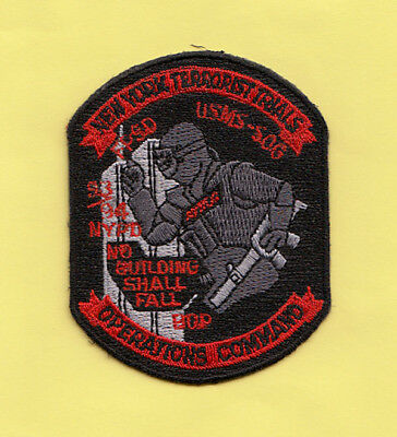 F23 * 1993 Usms Sog Ny Terrorist Trials Fps Op Agent Federal Police Patch Fbi