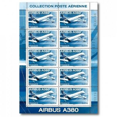Feuillet 10 timbres Poste aérienne Airbus A380 Sous blister NEUF