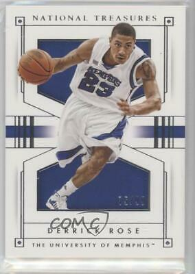 e9b7b5f60fbe 2016-17 Panini National Treasures Collegiate 12 Derrick Rose Memphis Tigers  Card