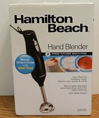 NEW Hamilton Beach Hand Blender 2-Speed Kitchen Multi-Tool #59759 NIB