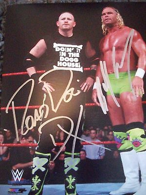 WWE Wrestling Road Dogg and Billy Gunn DX Autograph Not WCW ECW TNA ROH DVD T-sh