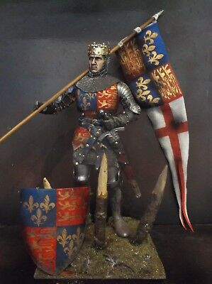 "12"" Custom King Henry V, Medieval English Knight At Agincourt 1/6 Figure Ignite"