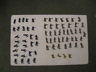 70 Plus Airfix 1/72 Scale Union + Confederate Soldiers