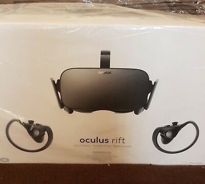 Oculus Rift VR Headset and Touch Controllers Bundle - Brand New
