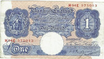 Bank Of England Emergency Issue One Pound Note