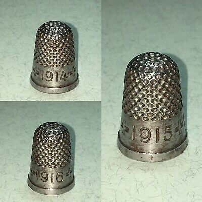 "Messing  Stahl-Fingerhut, Thimble Steel ""1914 - 1915 - 1916"""