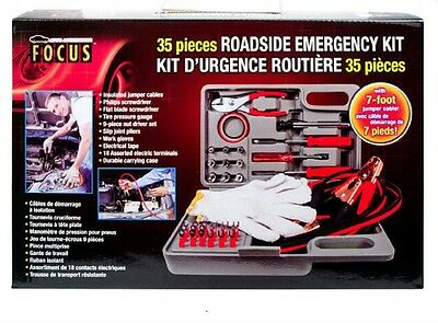 Auto Accessories  35 Piece Emergency Roadside  Kit