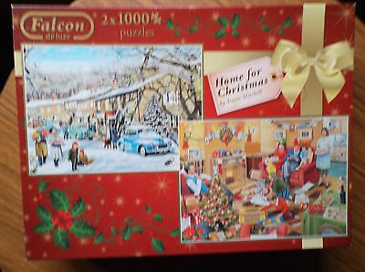 "jigsaw, Christmas puzzle, titled ""Home for Christmas"" 2 x 1000 piece puzzles"