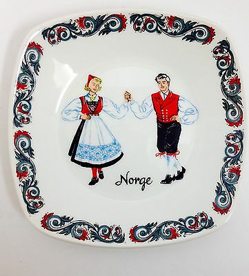 Vintage Classic Figgjo & Flint Norge Norway Dancing Couple Art Pottery Plate 6""