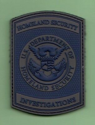 S2 *#1 Pvc Rubber Dhl Hsi Investigations Blue Federal Agent Police Patch Fbi Dea
