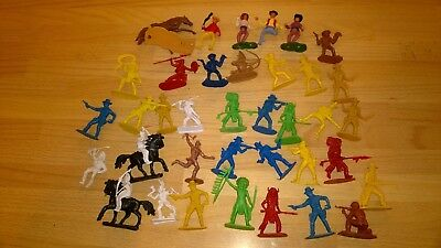 Toy Soldiers Cowboys And Indians Joblot Timpo X 36 Figures