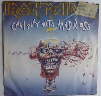 "Iron Maiden - Can I Play With Madness 1988 7"" Vinyl Single Em 49"
