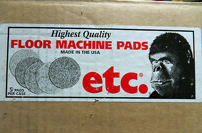 "NEW Box of FIVE etc Black Strip 14"" Floor Machine Pads 10140"