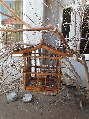 Antique Japanese Pagoda Birdcage