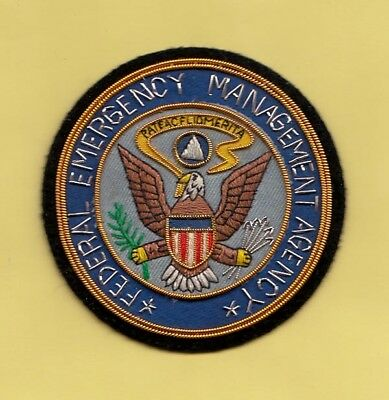 S14 * Fema Emergency Mangement Bullion National Seal Federal Police Fbi Patch