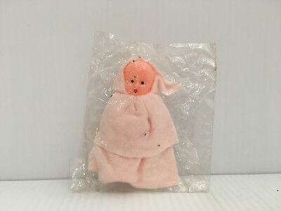 Vintage Doll 3in pink in Plastic Covering