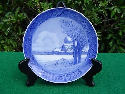 Antique Royal Copenhagen 1923 Christmas Plate, Danish Landscape