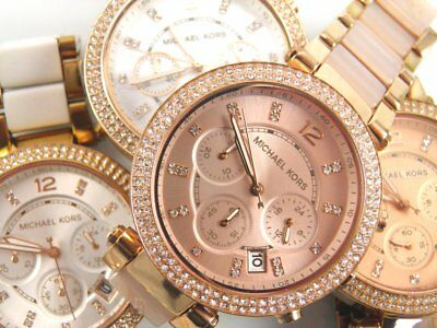 Dealers lot of 4 ladies Michael Kors Chronograph wrist watches spares & repairs